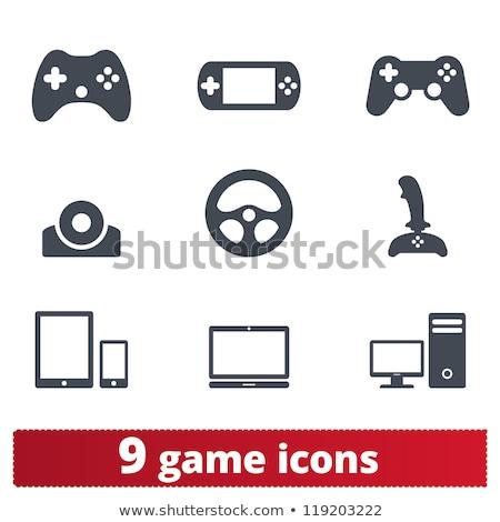 Játék konzol ikon videó játék gomb Stock fotó © kiddaikiddee