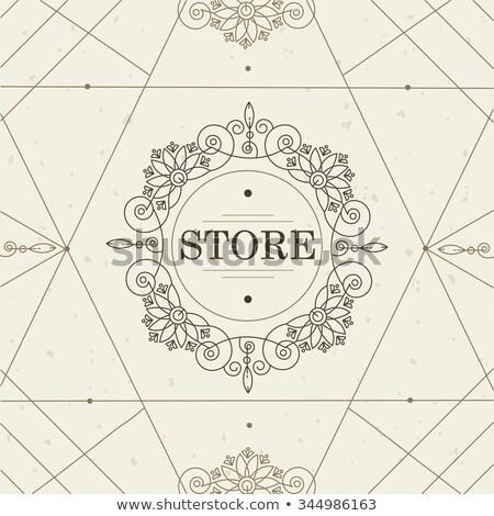Foto stock: Vector · geométrico · lineal · estilo · marco · art · deco