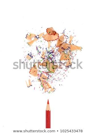 lápis · branco · cor · topo · ver · madeira - foto stock © c12