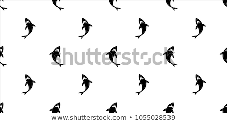 Underwater wallpaper with white Shark, vector illustration Stock photo © carodi
