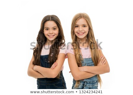 Preteen girl with long hair Stock photo © zurijeta