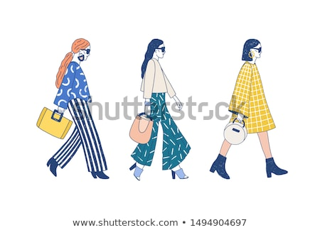 Runway model in designer outfit  Stock photo © shawlinmohd