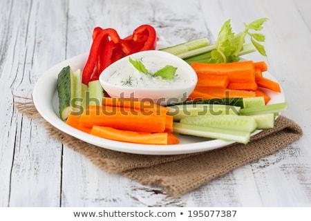 Plantaardige voedsel plaat wortel vers Stockfoto © Digifoodstock