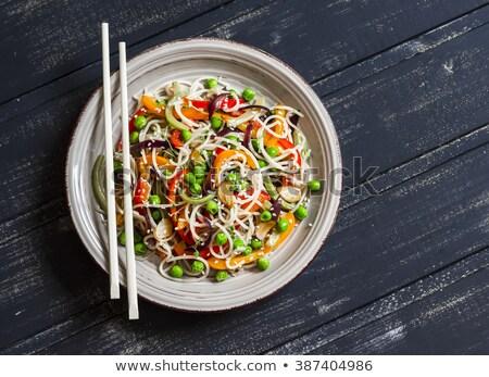 Vegetarian pasta stir fry Stock photo © Digifoodstock