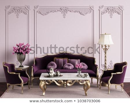 Sofá antigo luxo caro almofadas Foto stock © dmitroza