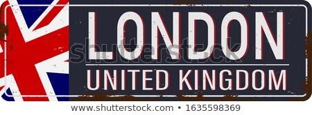 Fogzománc Anglia zászló fém szalag angol Stock fotó © fenton