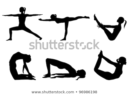 The Bowing Warrior Yoga Pose Stock photo © kentoh