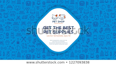 Animals pets grooming flat colorful vector illustrations Stock photo © vectorikart