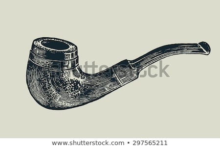 Tobacco pipe. Vector Illustration Stock photo © ConceptCafe