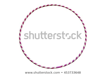 Gymnastics with hoop in color Stock photo © bluering