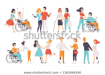 Disabled patients with wheelchairs Stock photo © bluering