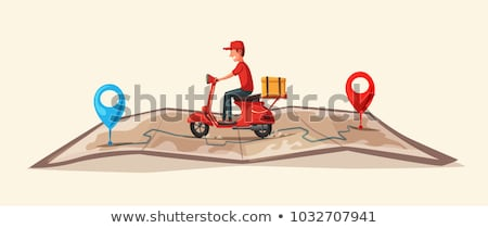 Fast Food Delivery Concept image for Advertising Stock photo © DavidArts