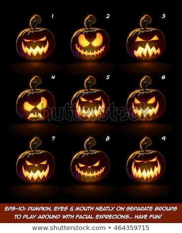 Scary Pumpkin Character Group Stock photo © Lightsource
