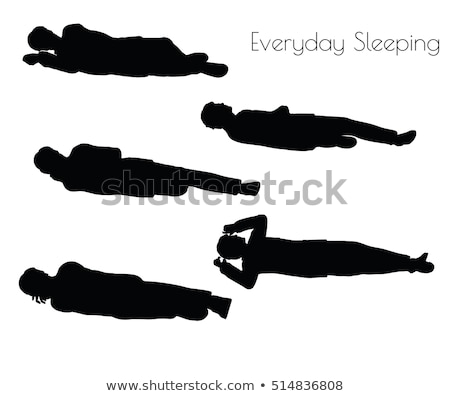 Erkek her gün uyku poz beyaz eps Stok fotoğraf © Istanbul2009