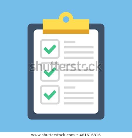 Csekk lista szöveg zöld tábla csoport Stock fotó © fuzzbones0
