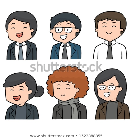Simples esboço masculino professor ilustração branco Foto stock © bluering