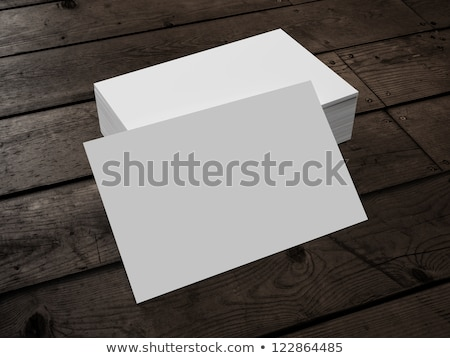 A rectangular business card Stock photo © bluering