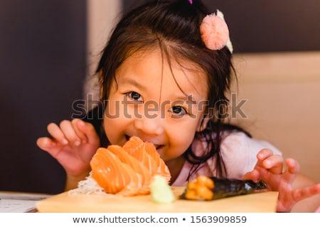 Wenig Fisch glückliches Gesicht Illustration glücklich Hintergrund Stock foto © bluering