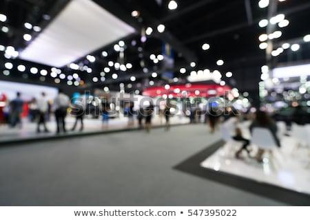 Stockfoto: Abstract · wazig · mensen · tentoonstelling · hal · evenement