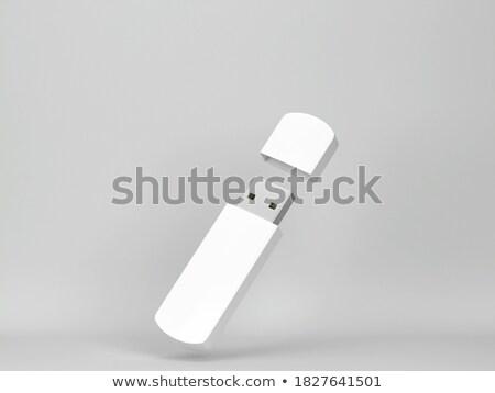 Usb メモリ スティック 緑 孤立した 白 ストックフォト © coprid