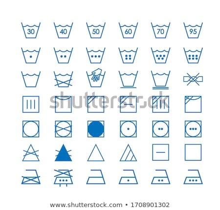 lavaggio · istruzione · icone · mano · vestiti - foto d'archivio © kali