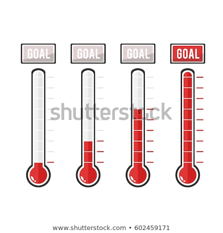 Сток-фото: Vector Goal Thermometers At Different Levels