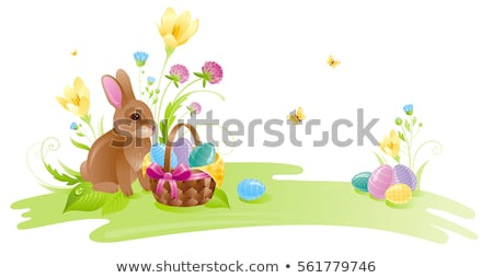 Easter Bunny Sunny Nature Landscape Design Stock photo © Wetzkaz