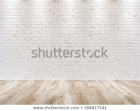 Brick wall and wooden floor Stock photo © bluering
