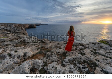 menorca island south coast cliffs spain stock photo © tuulijumala