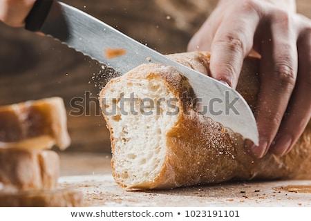 традиционный свежие хлеб деревенский таблице Сток-фото © Yatsenko