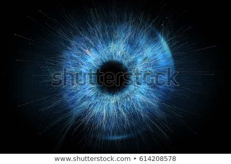 human eye vision abstract blue illustration stock photo © tefi