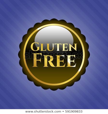 vector · glutenvrij · stempel · groene · witte · gezondheid - stockfoto © tefi