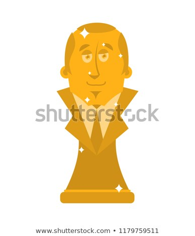 Bust of President. Big boss figurine Stock photo © popaukropa