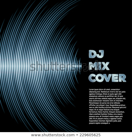 Music cover with waveform as a vinyl grooves Stock photo © SwillSkill