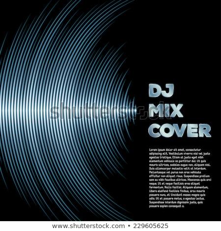 музыку охватывать виниловых 80-х годов стиль Сток-фото © SwillSkill