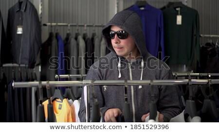 Stock fotó: Bűnöző · bolt · bolt · digitális · kompozit · számítógép · férfi