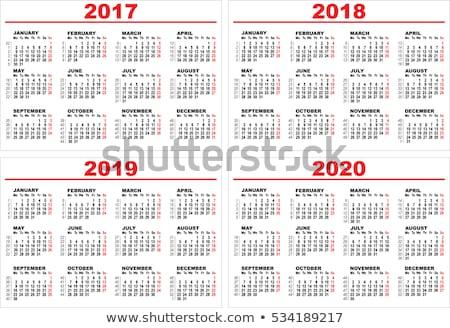 grade · calendário · ilustração · vetor · formato · projeto - foto stock © orensila