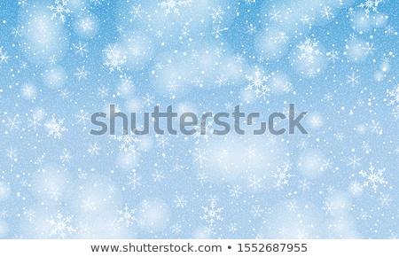 Christmas sneeuwvlokken abstract Blauw kleur hemel Stockfoto © fresh_5265954