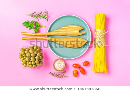 Fakanál spagetti villa fa magasról fotózva kilátás Stock fotó © StephanieFrey