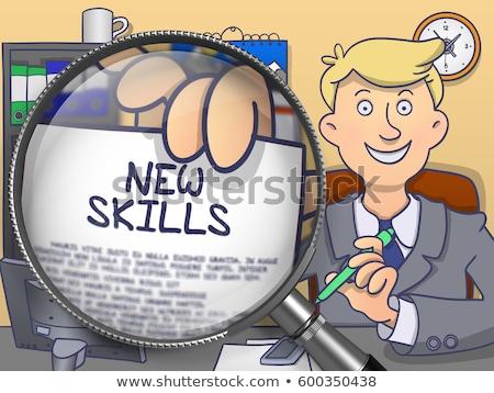 üzletember · képesség · tudás · üzlet · internet · férfi - stock fotó © tashatuvango