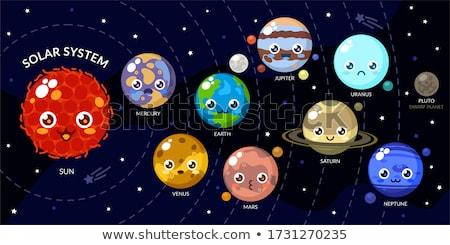 太陽系 · 実例 · ヴィンテージ · スタイル · 惑星 · 太陽 - ストックフォト © bluering