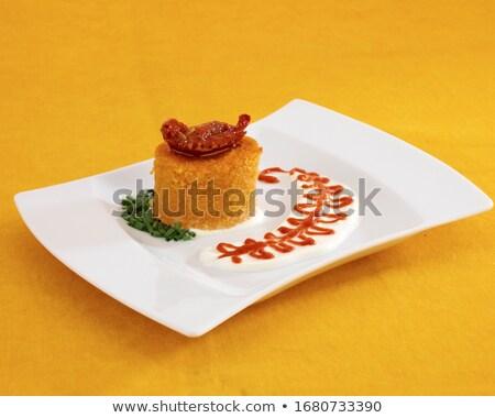 antipasto, polenta and dry tomato Stock photo © M-studio