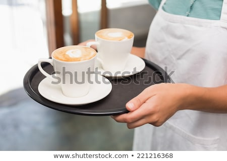 Photo stock: Serveuse · alimentaire · plateau · restaurant