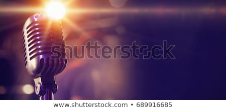 Mikrofon nightclub dymu retro jazz Zdjęcia stock © wavebreak_media