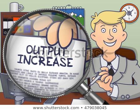 output increase through lens doodle style stock photo © tashatuvango