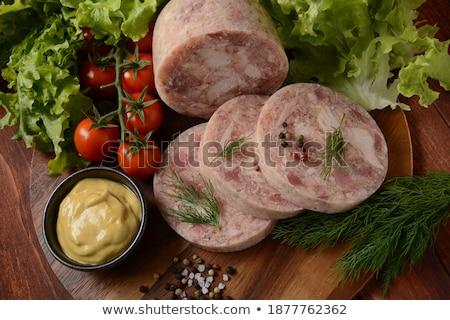 ветчиной · помидоры · черри · Ломтики · свежие · белый · продовольствие - Сток-фото © Digifoodstock