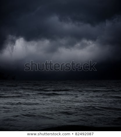 art Dark sea stormy background Stock photo © Konstanttin