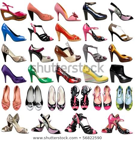rosso · sexy · donne · scarpe · isolato · bianco - foto d'archivio © nobilior