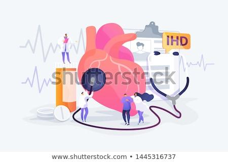 心臓病 医療 青 錠剤 シリンジ 選択フォーカス ストックフォト © tashatuvango