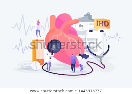 Malattie cardiache medici blu pillole siringa messa a fuoco selettiva Foto d'archivio © tashatuvango